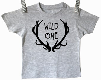 Wild one kids shirt. Modern kids clothes. Boys and girls baby and toddler shirt. Kids clothes
