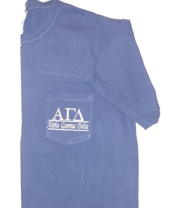 Sorority shirts alpha gamma delta sorority t by for Frat pocket t shirts