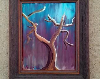 """ORIGINAL OIL - """"Midnight Oak,"""" 8 x 10"""" Framed"""