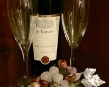 Vintage Grape Cluster- Art nouveau natural gemstone -Large stone agate grape cluster for decorating or conversation piece.