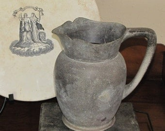 Antique Pewter Ewer