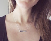 Sterling Silver Roman Numeral Necklace | Wedding Date Necklace | Silver Bar Necklace | Personalized Bar Necklace
