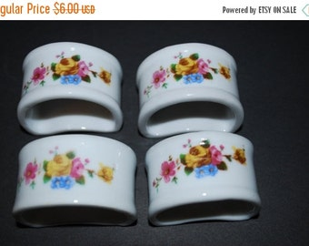 Napkin Rings Porcelain Napkin Rings Four Piece