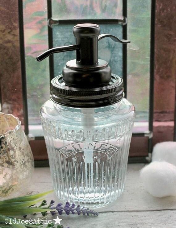 Kilner Jahrgang Preserve Jar Seifenspender mit Öl eingerieben | {Seifenspender antik 37}