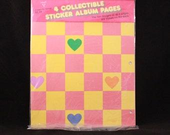 The Original Vintage 1984 Hallmark 4 Collectible Sticker Album Pages. 8 Designs and Sealed