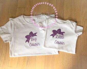 Cousin shirt, big cousin, little cousin, cousin set, best friend shirts, best friend