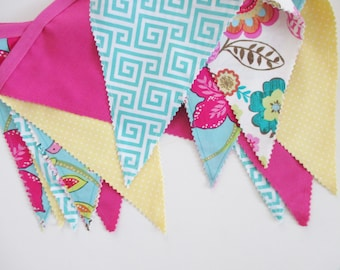 Fabric Banner, Fabric Bunting, Fabric Banner Bunting, Fabric Flag Banner