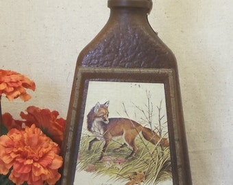 Vintage Collectible Jim Beam Choice Kentucky Bourbon Decanter Bottle,Red Fox,James Lockhart, Artist,Antique Collectible,#VB7165