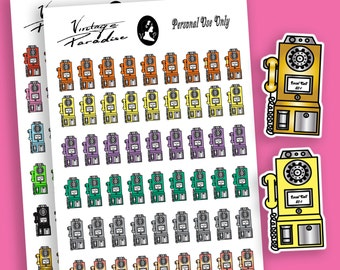 Payphone Planner Stickers