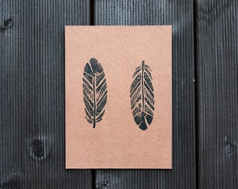 Copper Print - Feathers