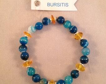Healing Gemstone Stretch Bracelet for Bursitis Sufferers