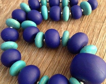 Azurica - Bold Blue Statement Necklace