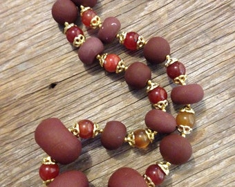 Reggie - Brown Statement Necklace
