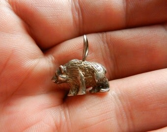 Small Sterling Silver Bear Pendant Nice Detail