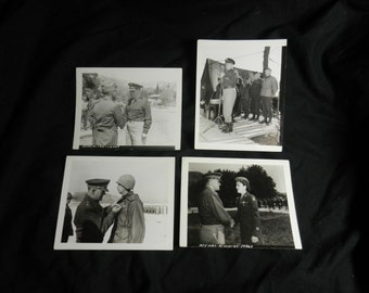 Four Vintage General Lucian K Truscott 5th Army Photographs Marked Secret on the back