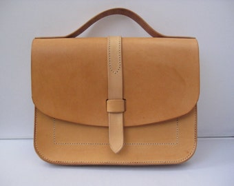 Natural leather iPad bag