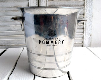 Vintage French Metal POMMERY Champagne Ice Bucket Wine Cooler