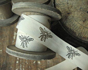 Natural Cotton French Bee Ribbon