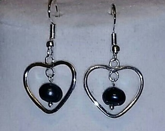 Hearts n Pearl Earrings