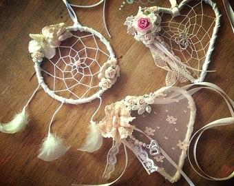 Dreamcatcher Bridal/Flowergirl Charm Shabby Boho Wedding