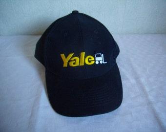 "Blue-black cap, ""YALE / Avesco"" advertising, vintage Swiss,"