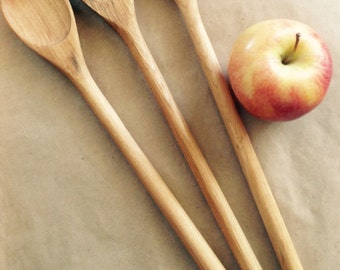 Wooden cooking spoons, maple kitchen utensils, made in PEI