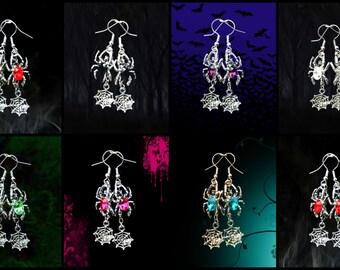50% On SALE Spider Earrings..Spider Web Earrings..Spider Costume Jewelry..Spider Jewelry..Spider Web Costume..Spiderman Costume..Spider Gwen