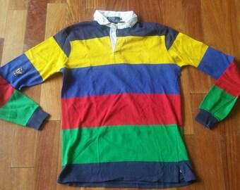 Vintage Ralph Lauren Polo rugby shirt uni crest