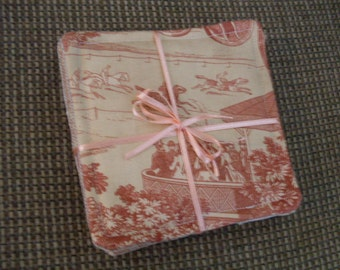 Gorgeous French Toile Coasters Cottage Chic