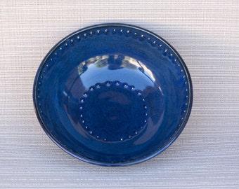 handmade, handmade pottery, pottery bowl, blue bowl, handmade blue bowl, handmade pottery blue bowl, small design bowl, decorated blue bowl
