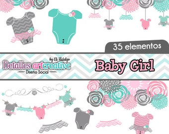 Baby Girl Flowers Clipart