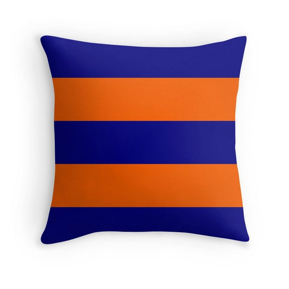 Decorative Pillows Blue And Orange : Blue and Orange Pillows Blue Throw Pillows Orange Pillow