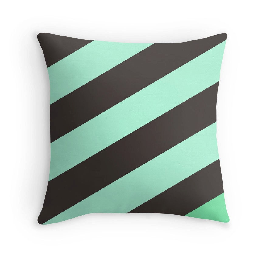 Mint Green And Brown Throw Pillows : Mint Chocolate Pillow Mint Green Pillow Green Brown Pillow