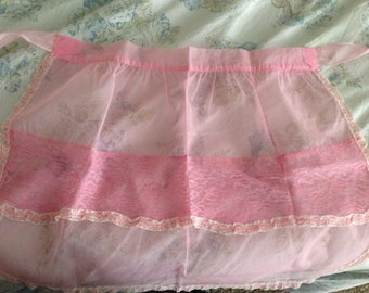 Apron- Sheer Pink and Lacy