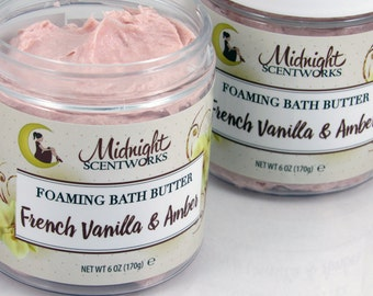 Whipped Soap - French Vanilla & Amber - Whip Soap - Cream Soap - Bath Whip - Shaving Soap - Foaming Bath Whip - Gift for Mom - Gift for Her