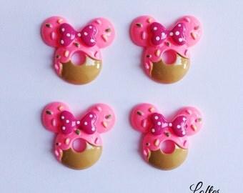 5 cute donut sweets cabochons flatbacks - C119
