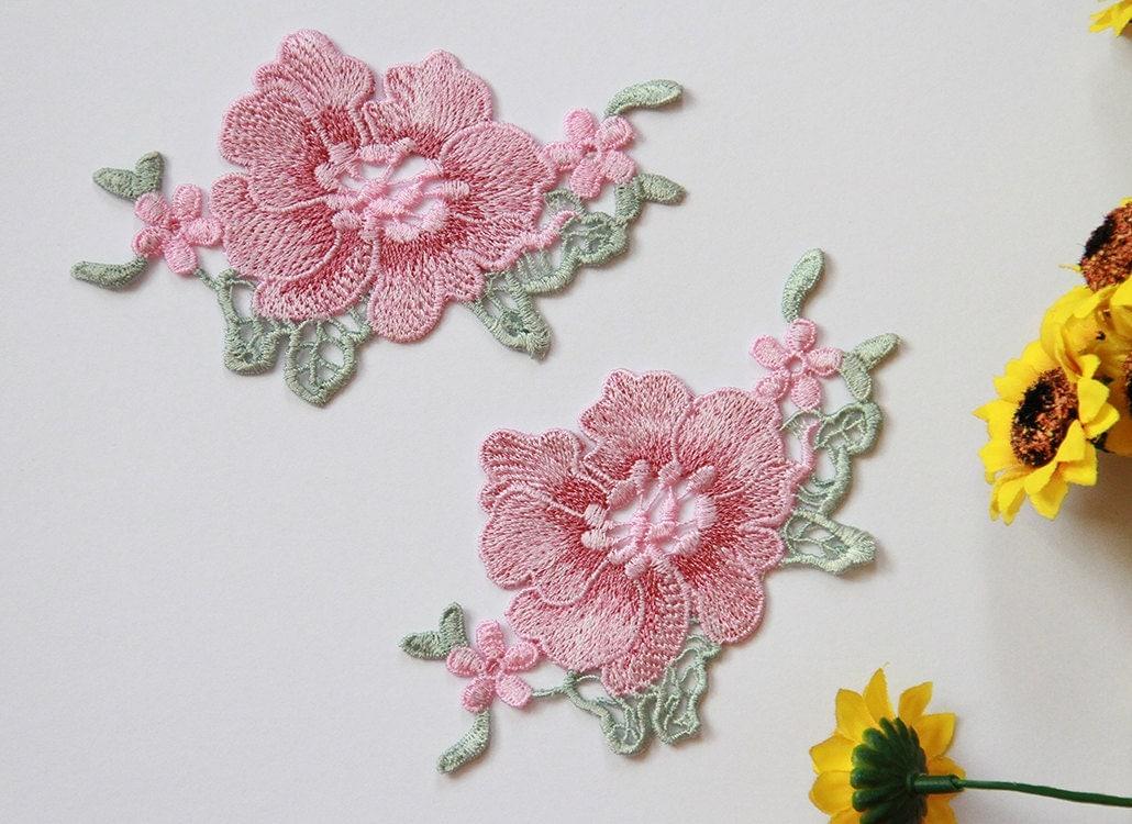 Pieces flower applique lace embroidery supplies