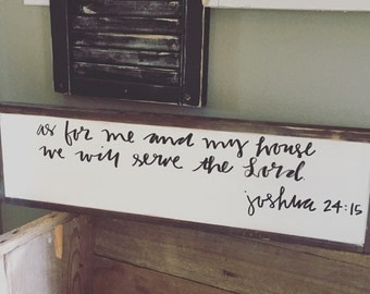 Joshua 24:15 signs, wooden signs, home decor, wood decor,
