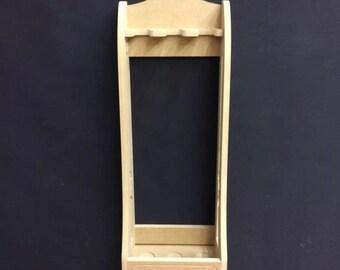 Freestanding Vertical Gun Rack Cabinet for 3 Guns Chain Holes & Baize