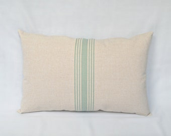Aqua Stripe Pillow