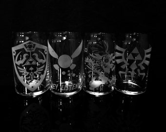 Legend of Zelda Beer Can Glass Set of 4