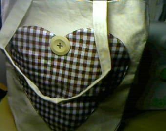 Tote Heart Pocket