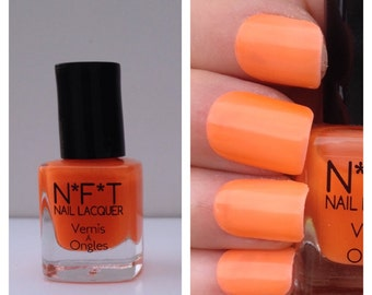 N87 Electric Orange Neon Nail Polish / Indie Lacquer