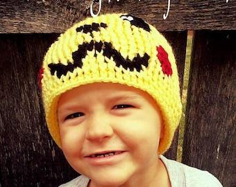 Crochet Pikachu Hat