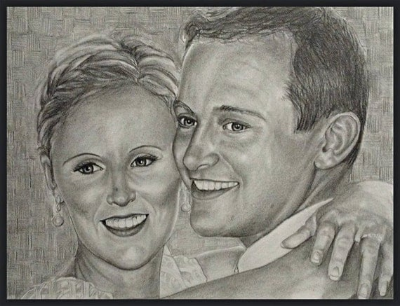 Custom pencil portrait from your photo. 25% Sale! Drawn by a multi Award-Winning Artist from your photo. Free shipping.