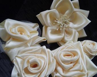 Handmade Satin flowers