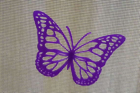 3d Screen Door Saver Magnet Monarch Butterfly Purple By Vidogo