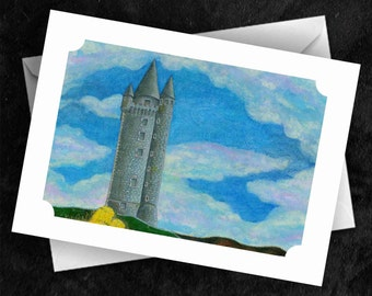 Scrabo - 7x5 Folded Greetings Card