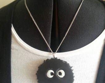 Studio Ghibli Large Soot Sprite Pendent and Chain