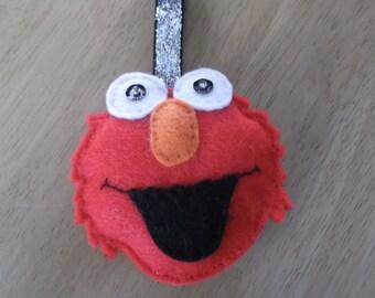 Felt Elmo inspired Christmas bauble large